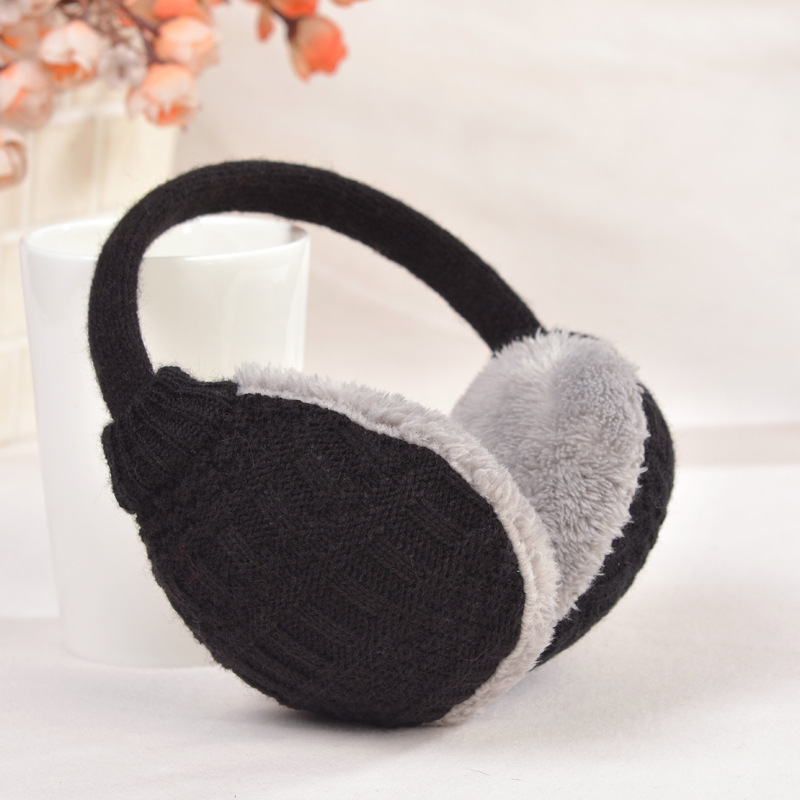Unisex Warm Knitted Fur Earmuffs Winter Earmuffs For Women Men Plush Earmuff Headphones Ear Warmer Cycling And Skiing Ear Muff