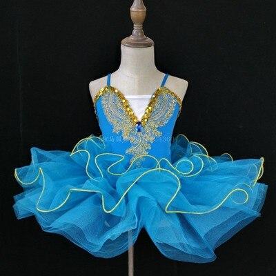 Г. Детское балетное платье Пушистый костюм платье принцессы платье для танцев с изображением маленького лебедя платье для выступлений для девочек, Costumeflower, платья для девочек - Цвет: sky blue