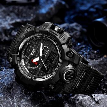 SMAEL Sport Watch for Men Waterproof Quartz Analog LED Electronic Men's Wristwatch Clock Male Digital Wrist watches Montre Homme 1