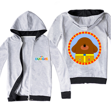 Hoodies Jackets Outwear Girls Hey Duggee Children's Zipper-Coat Spring Boys Kids Hot