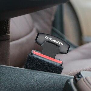 Image 1 - 1PCS Auto Gürtel Schnallen Echt Lkw Auto Sitz Safty Gürtel Alarm Löscher Stopper für Mitsubishi Outlander 2018 2019 Auto zubehör
