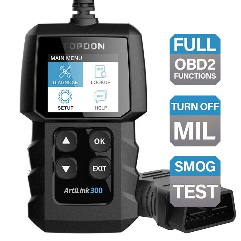 TOPDON AL300 полностью функциональный диагностический инструмент OBD2, бесплатный диагностический инструмент OBD для автомобиля, диагностический инструмент для автомобиля, считыватель кодов Считыватели кодов и сканеры      АлиЭкспресс