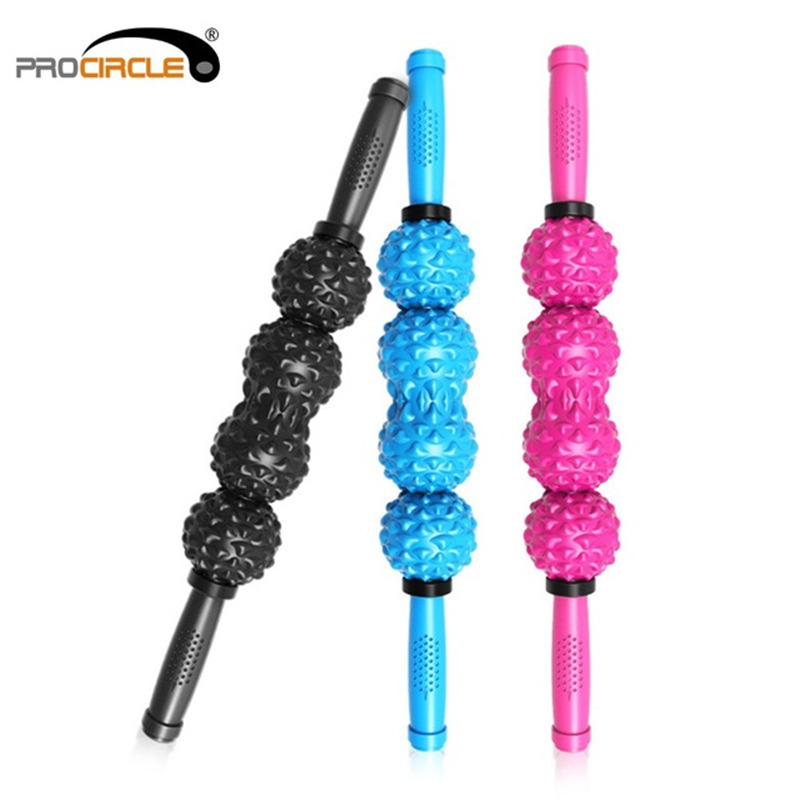 ProCircle Cobblestone Fitness Ball Massage Stick Roller Legs And Back Recovery Sore And Tight Muscles