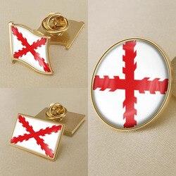 Булавки/Броши/значки крест бордового флага Испании
