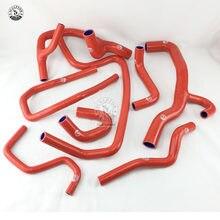 Mangueira do radiador de silicone kit para renault clio mk1 i 16s/williams mt 1.8l/2.0l 16v (7 peças) vermelho/azul/preto