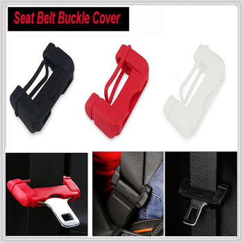 Car Safety Belt Buckle Covers Silicon Seat Protector for Hyundai Accent Azera Elantra Solaris Verna Santa Fe IX45 Sonata image
