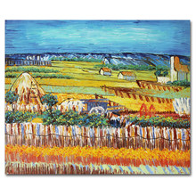 Van Gogh Harvest in the Pastoral Oil Painting Painted on Canvas by Hand High Quality Wall Art for Living Room Home Wall Decor