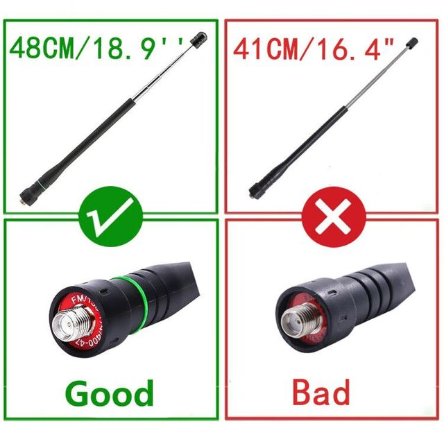 2pcsabbree ar-775 telescopic sma-f female dual band antenna for walkie talkie baofeng uv-5r bf-uvb3 plus bf888s uv82 uv-9r plus
