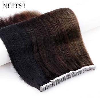 Neitsi Mini Tape In Human Hair Adhesive Extensions 12 1