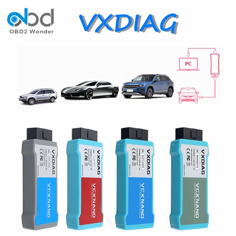 VXDIAG VCX NANO OBD2 narzędzie diagnostyczne dla VW dla volvo dla forda dla mazdy dla GM dla toyoty dla JLR WIFI/USB skaner programowanie