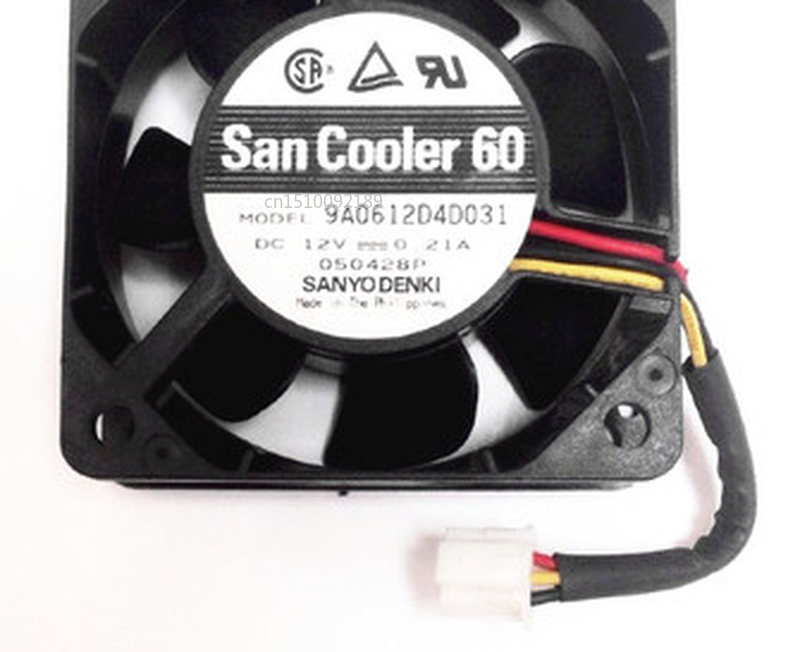 Free Shipping Spot Original 6025 6CM 9A0612D4D031 12V 0.21A Three-wire Cooling Fan