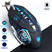 DATA FROG Professional Wired Gaming Mouse 6 Buttons 3200DPI Adjustable Optical LED Mice USB Cable Silent Mouse for laptop/PC
