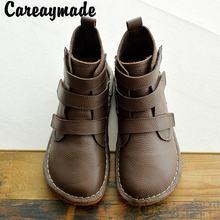 Careaymade художественные простые маленькие белые ботинки с