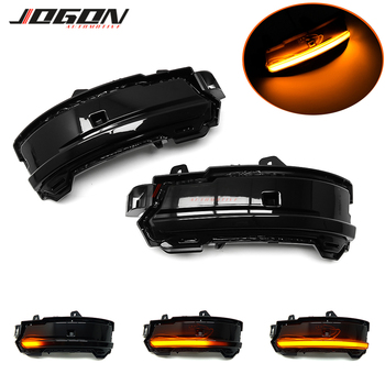 Black For Jaguar E-Pace F Pace 2017- 2020 Car Rearview LED Dynamic Turn Signal Indicator Blinker Sequential Light Accessories