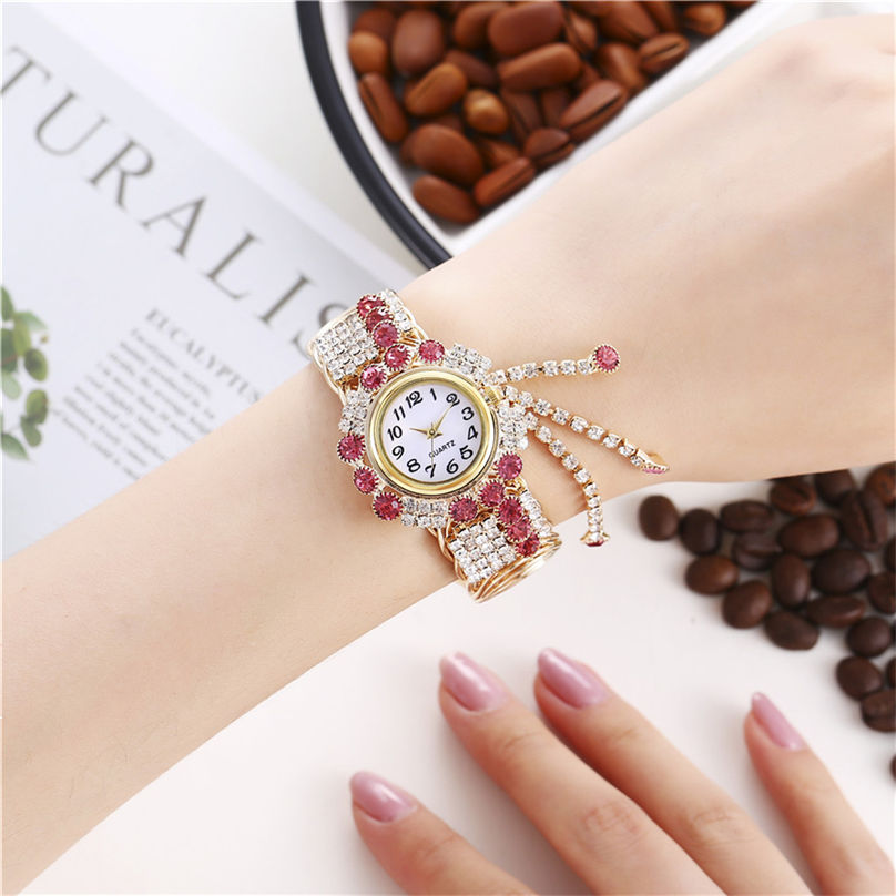 Khorasan Luxury Alloy Fashion Casual Women Watch Creative Fringe Quartz Bracelet Watches 3D13 (7)