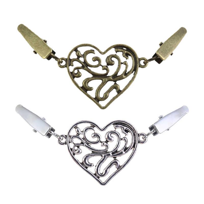 Vrouwen Trui Shawl Casual Legering Houder Vest Anti Roest Gemakkelijk Gebruik Kraag Clip Duurzaam Antieke Bloem Pin Pandents