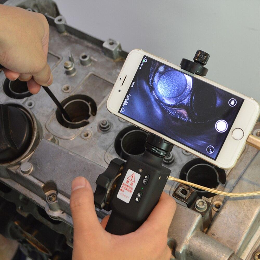 Цифровая промышленная камера-эндоскоп Steerable 720P Borescope 5,5 мм USB Автомобильная камера для осмотра труб двигателя для смартфонов Android