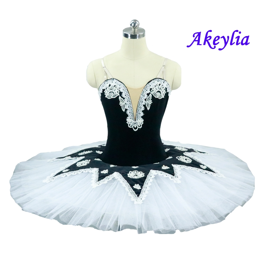 Pancake Ballet Tutu Girls Professional White Black Ballet Tutus Practice Rehearsal Platter Ballet Dress women