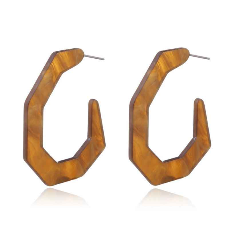 Pendientes de acetato acrílico Irregular joyería de moda para mujer pendientes de resina geométrica hallazgos forma C regalos únicos