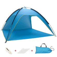 2019 New Fishing Picnic Beach Tent Travel Camping Tent with Bag UV Protection Beach Tent/summer beach tent Outdoor Sun Shelter hot sale waterproof camping tent gazebo ice fishing tent awnings winter tent sun shelter beach tent one hall and one room