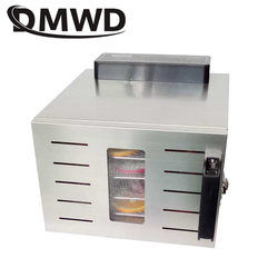 DMWD 5 Trays Dried Food Dehydrator Snacks Dehydration Air Dryer Stainless Steel Fruit Vegetable Herb Pet Meat Drying Machine EU