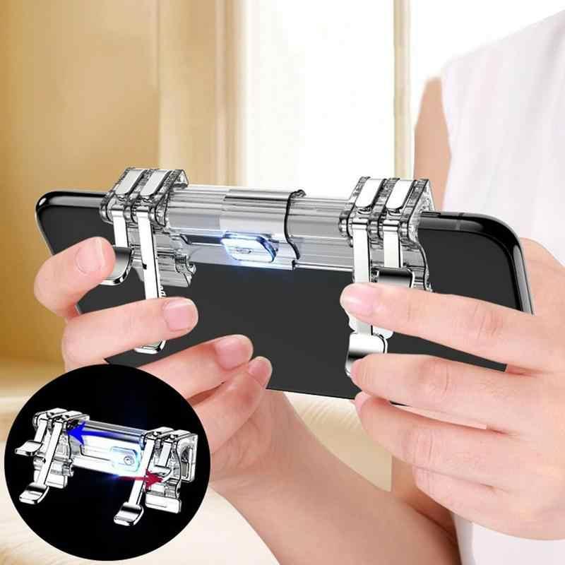 K9 Mobile Gioco Assist Pulsante per Pubg Gamepad Controller Pulsante Shooter Grip Tasto di Attivazione Ritardo Zero Joystick per 4- 7 Pollici Del Telefono