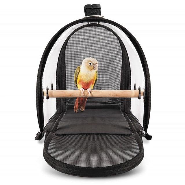 Portable Clear Lightweight Breathable Bird Travel Bag  6