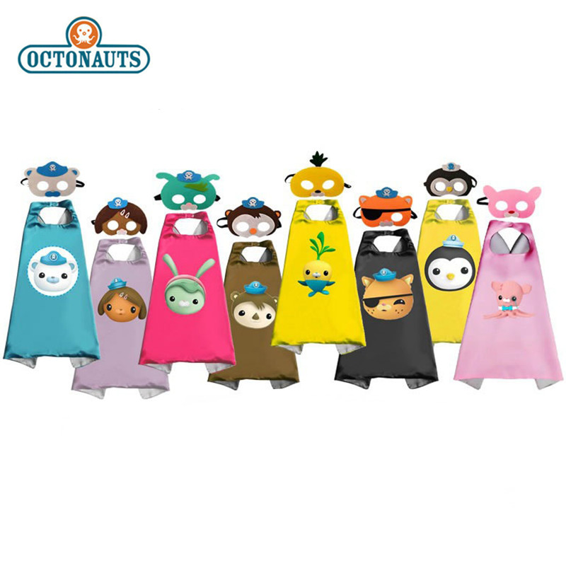 Octonauts Mask Cover Suit Crackles Kwazii Campus Class Performance Role Play Halloween Cosplay Kids Birthday Gift