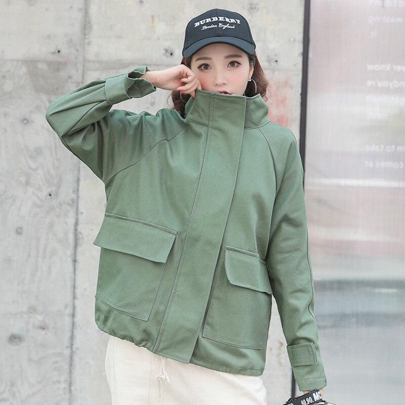 Women   Basic     Jacket   2019 Autumn Winter Fashion Female Raglan Sleeve Thin Loose Frock   Jacket   BF Style Casual Outwear Coat Oversize