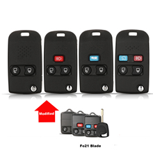 jingyuqin Modified Remote Folding Flip Key Cover Case For Ford Crown Victoria Escape ExpeditionExplorer Sport FO21 Blade