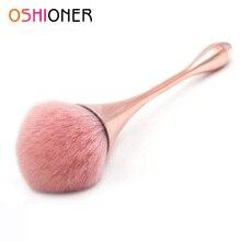 OSHIONER, 1 шт., Кисть для макияжа с ручкой, косметическая кисть для основы, пластиковая ручка, кисть для румян, кисть для теней, рассыпчатая пудра, инструмент для макияжа