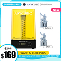 Предварительная продажа ANYCUBIC Wash & Cure Plus Большой размер стирки 192 мм * 120 мм * 290 мм для 3D принтера Photon Mono X LCD