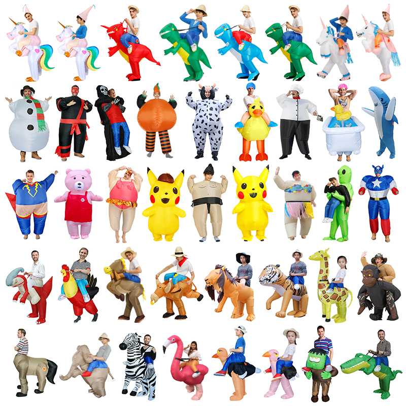 Kids Adult Alien Inflatable Costume Sumo Costume Suit Fantasias Unicorn Dinosaur Costumes Cosplay Halloween Party