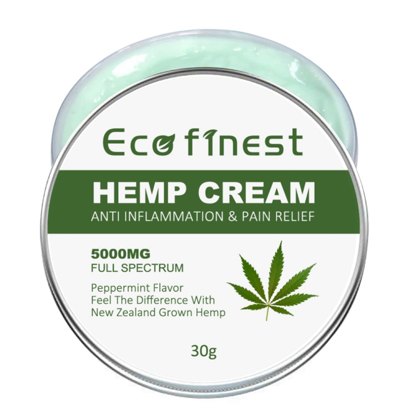 Hemp Cream Effective Pain Relief Anti-Inflammatory Relieve Back Muscle Pain Non-GMO Hemp Extract Ointment