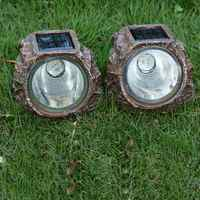 Luz LED grande creativa para jardín al aire libre, foco de piedra Rock decorativo Solar, lámpara para decoración de jardín Exterior, Led para jardín