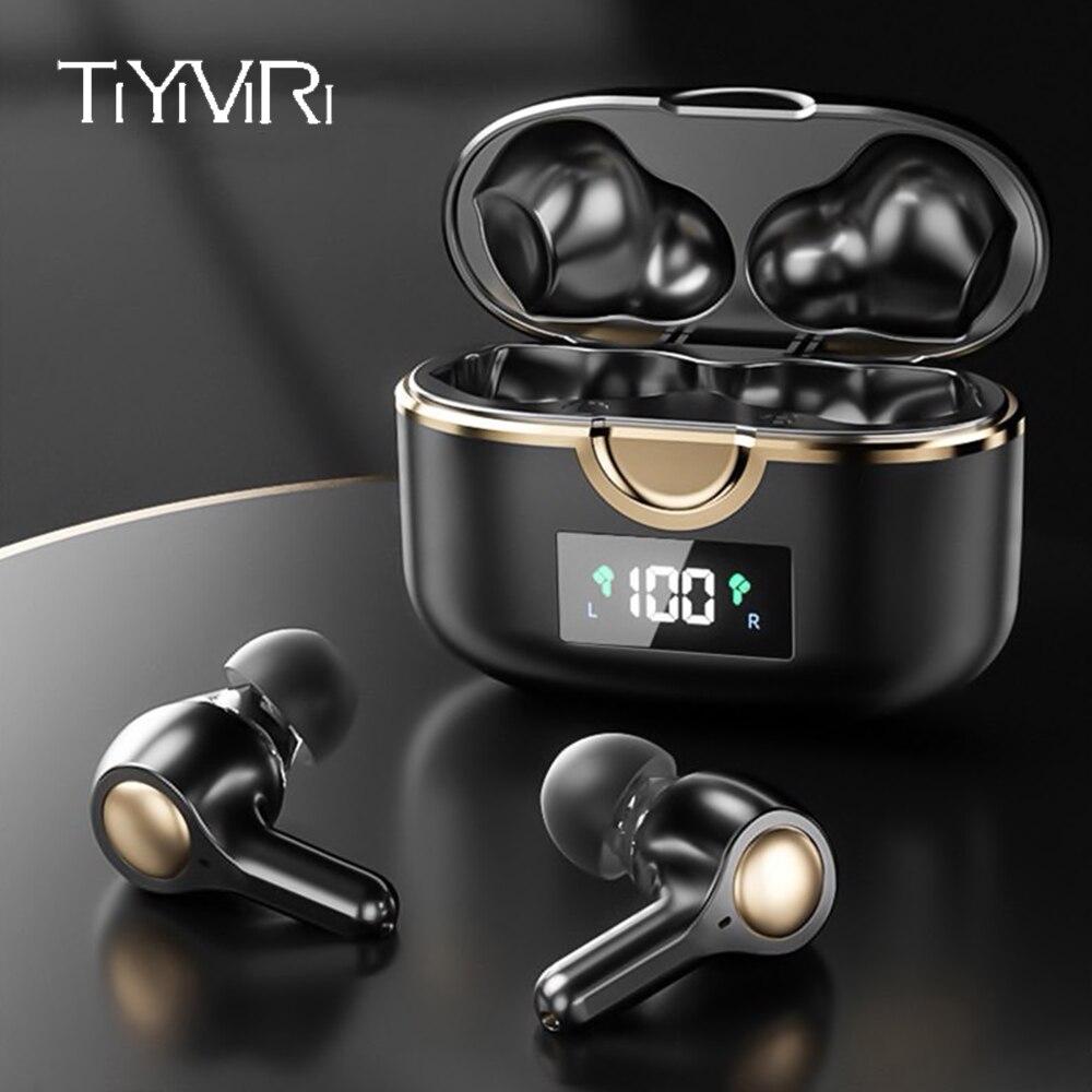 TWS наушники Bluetooth 5,1 Беспроводные сенсорные наушники бас стерео Hifi музыка регулятор громкости 4 микрофон шумоподавление наушники