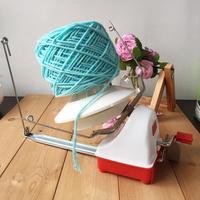 Ovillo de lana operado a mano, bola giratoria, máquina de hierro, bobinadora de costura para el hogar, práctico, de bajo ruido y velocidad rápida