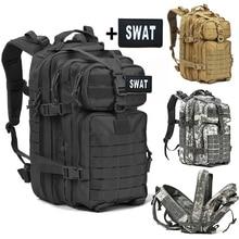 40LทหารยุทธวิธีAssault Packกระเป๋าเป้สะพายหลังArmy 3Dกันน้ำBug Out Bagขนาดเล็กRucksackสำหรับเดินป่ากลางแจ้งการล่าสัตว์