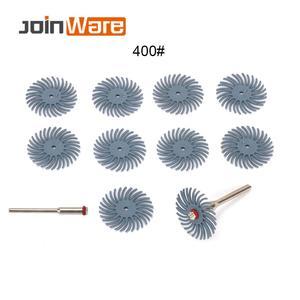Image 2 - 70 pçs escova abrasiva de cerdas radiais misturadas grit grosso dremel acessórios para ferramenta abrasiva + 5 pçs mandril