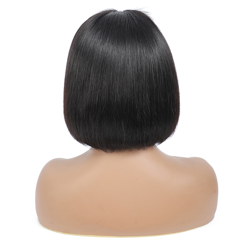 180 density 4x4 bob wig lace front human hair wigs pre plucked short  straight Frontal Wigs For black women 5