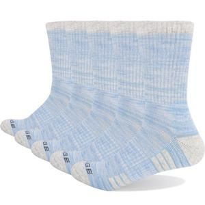 Image 5 - YUEDGE Brand Womens Colorful Cotton Cushion Comfortable Breathable Casual Sports Runing Hiking Crew Dress Socks( 5 Pairs/Pack)