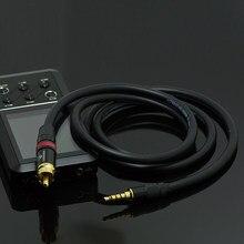 De ALTA FIDELIDADE de 3.5mm Para RCA Cabo de Áudio SPDIF Coaxial Digital Para Fiio X7 X3K X5K X3 X5 1st 2nd 3rd M9 M11 M15 E17 X5II X3II TempoTec V1