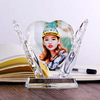 Creative gift personality DIY crystal photo Valentine's Day hand holding heart gift Crystal photo set