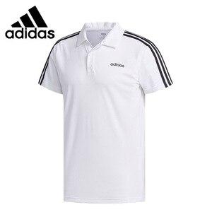 Originele Nieuwe Collectie Adidas M Cot Polo 3S Heren Polo Shirt Korte Mouw Sportkleding