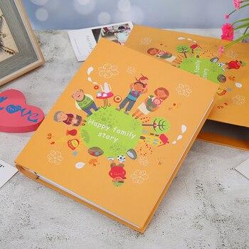 Funda duradera con impresión de dibujos animados para álbum de fotos, 400 hojas, bolsillo de almacenamiento para fotos DIY, libro de memoria delicado, regalos para niños