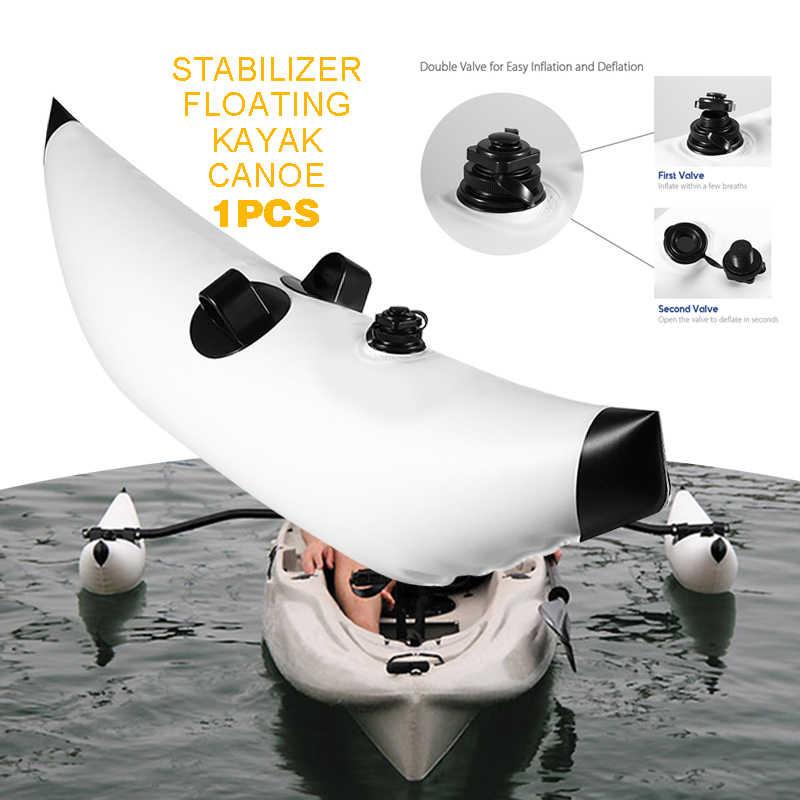 1pc portátil PVC Opblaasbare Outrigger Kajak accesorios Kano bota Vissen flotar estabilizador para Kayak barco canoa paleta de pesca
