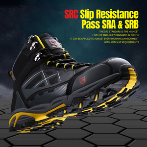 Image 5 - LARNMERN Mens Steel Toe Work Safety Shoes Lightweight Breathable Anti smashing Anti puncture Anti static Protective Boots
