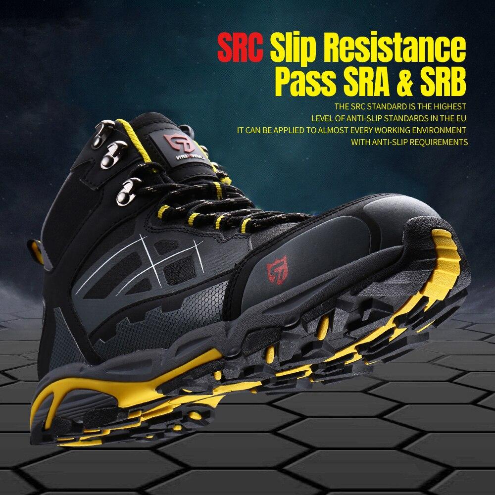 LARNMERN hommes acier orteil travail chaussures de sécurité léger respirant Anti fracassant Anti crevaison antistatique bottes de protection - 5