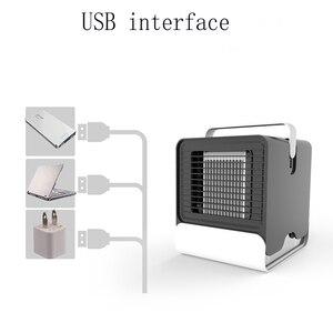 Image 4 - HAVA SOĞUTUCU Fan klima nemlendirici soğutma fanı Mini USB taşınabilir masa masa Dropshipping 10 15 gün gelmesi abd ab FA