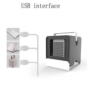 Image 4 - 에어 쿨러 팬 에어 컨디셔너 가습기 냉각 팬 미니 USB 휴대용 책상 테이블 Dropshipping 10 15 일 미국에서 도착 EU FA